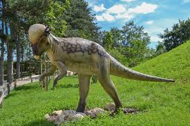 Dinosaur in the zoo park stock photo. Image of articles - 149284452