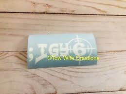 Igy6 I Got Your 6 Decal Ebay