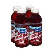 ocean spray 100 cranberry juice no