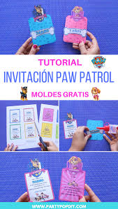 Paw Patrol Invitacion Moldes Party Pop