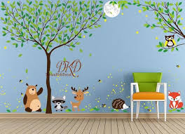 Jungle Wall Decal Full Tree Wall Sticker By Dreamkidsdecal On Zibbet