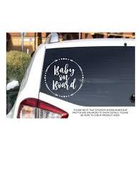Baby On Board Vinyl Decal Car Window Decal Etsy In 2020 Car Decals Vinyl Custom Vinyl Decal Vinyl