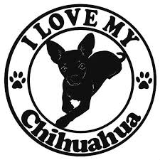I Love My Chihuahua Md2 Dog Decal Dog Breeds Wildlife Decal