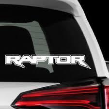 Raptor F 150 Decal Sticker Vinyl Emblem Rustic Rear Window Colors Reflective Ebay