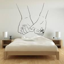 Love Couple Hands Wall Stickers Bedroom Adornment Romantic Room Vinyl Wall Decal Bride And Groom Living Room Decoration Y342 Wall Stickers Aliexpress