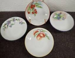 POLLY MOORE hand painted porcelain bowls side dish Berries & Fruit ...