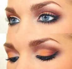 daytime makeup for blue eyes cat eye