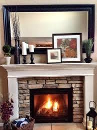 mantel decor stone fireplace mantel