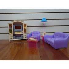 My Fancy Life Barbie Size Dollhouse Furniture Living Room With Tv Dvd Set And Show Case