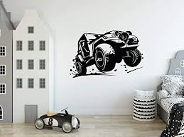 Amazon Com Fsds Racing Car Decal Wall Wrangler Road Extreme Sport Race Jeep 4x4 Wall Decor For Kids Rooms Boys Bedroom Office Childrens Big Car Vinyl Stickers Home Design Car Themed