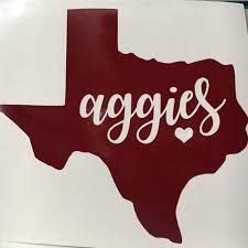 Texas A M Sticker Texas Aggies Vinyl Tamu Decal Gig Em Aggies Tamu College Station Texa Texas Aggies Cricut Projects Vinyl Gig Em Aggies