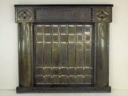 viennese art nouveau fireplace cover
