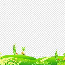 Green Grass With White Fence Illustrations Cartoon Meadow Cartoon Character Leaf Png Pngegg