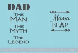 Rtic Or Yeti Mug Decals Mama Bear Dad Legend Vinyl Stickers
