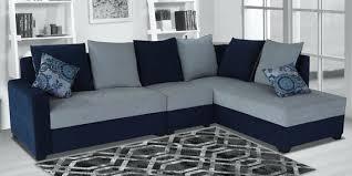 jordan lhs sectional sofa in blue