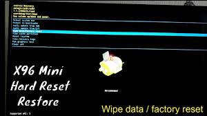 X96 Mini Hard Reset and Restore X96 Tv Box Android 7.1 Smart BOX ...