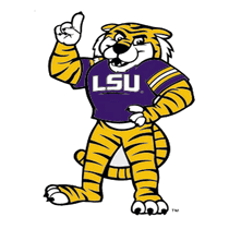 Craftique Decal Lsu Tigers Mike 5 Vinyl Decal Purple And Gold Sports