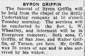 Obituary for BYRON GRIFFIN (Aged 76) - Newspapers.com