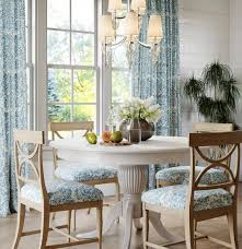 Blue White Farmhouse Curtains Blue Linen Curtains Dining Room Etsy
