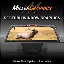 Buck Elk In Field Rear Window Decal Graphic For Truck Suv Ebay