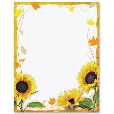Sunflower Surprise Border Papers Tarjetas De Girasol Crear