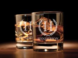 personalized engraved whiskey glass