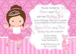 Invitacion Festa Infantil Bailarina Convite De Aniversario