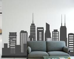 Skyline Wall Decal Etsy