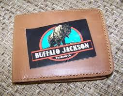 buffalo jackson bi fold leather whiskey