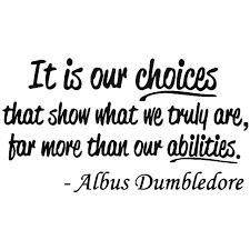 albus dumbledore harry potter quote sticker