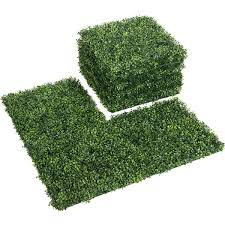 12 Pcs 20 X 20 Artificial Boxwood Wall Panel Sunshine Proof Topiary Hedge For Outdoor Indoor Greenery Privacy Screen For Party Wedding Christmas Plant Fence Panels For Garden Backyard Decor