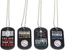 volleyball motivational dog tag