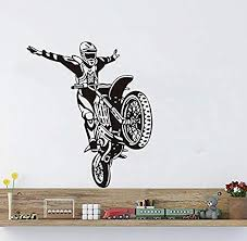 Xcdfr Vinyl Wall Stickers For Extreme Sports Decals Decorate Wallpaper Kids Living Room In Art Mural59x69cm Educational Toys Planet