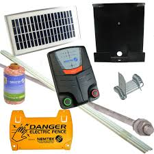 Nemtek Pet Stop Kit Solar Electric Fencing Pack Includes Energiser Poles Electric Rope And Earth Stake