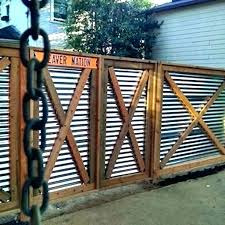 corrugated metal privacy fence panels