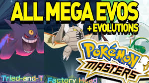 All MEGA EVOLUTIONS and EVOLUTIONS in Pokemon Masters! - YouTube