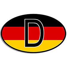 Euro Oval D Deutschland Sticker Decal German Flag Germany Berlin Car Decal Size 3 X 5 Inch Walmart Com Walmart Com