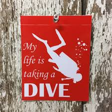 Scuba Diving Vinyl Decal Window Sticker Adventure Roost
