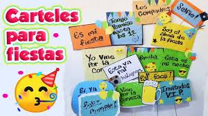 Carteles Para Fiestas Diy Manualidades Youtube