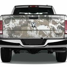 Skulls Grunge Camouflage Tailgate Pickup Decal Truck Vinyl Camo Wrap Graphic Usa Ebay