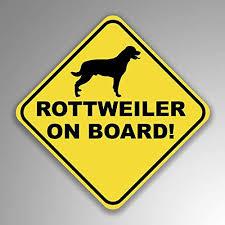 Amazon Com Jb Print Rottweiler On Board Dog Mom Dad Animal Lover Vinyl Decal Sticker Car Waterproof Car Decal Bumper Sticker 5 Kitchen Dining