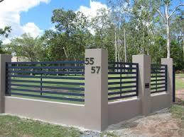 Horizontal Slat Fence Panels With Wide Gap Brisbane Gates Slatted Fence Panels Fence Design Horizontal Slat Fence
