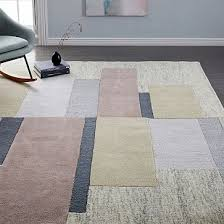 hand tufting gives this rug s geometric