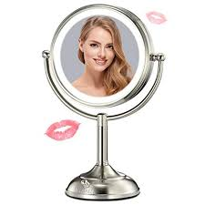 lighted makeup mirror 10x magnifying