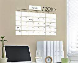 Dry Erase Calendar Vinyl Sticker Cool Material