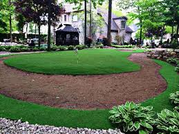 putting green with artificial grass