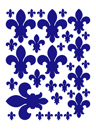 Royal Blue Fleur De Lis Wall Decal Bedroom Wall Decor Whimsidecals