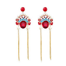 caromay chinese national wind earrings