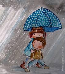 Dia de pluja | Ilustraciones infantiles