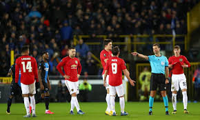Manchester United players fume after Club Brugge score goal ...